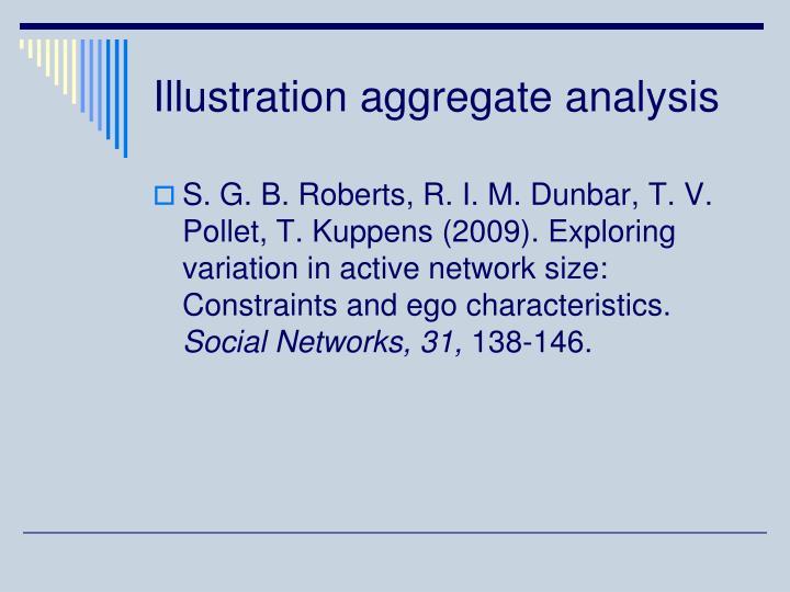 Illustration aggregate analysis