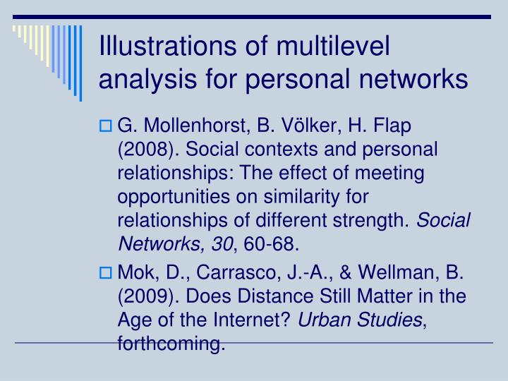 Illustrations of multilevel analysis for personal networks