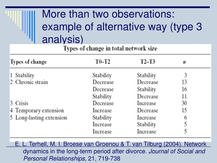 More than two observations: example of alternative way (type 3 analysis)