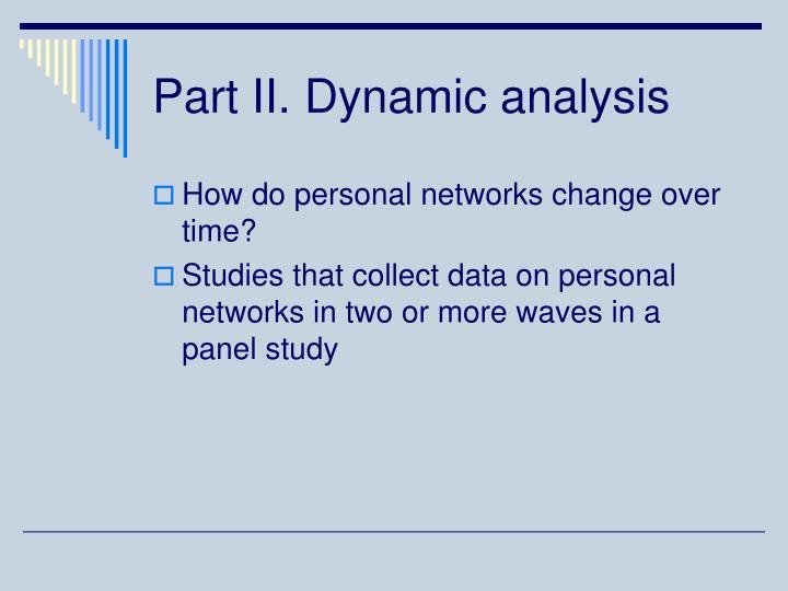 Part II. Dynamic analysis