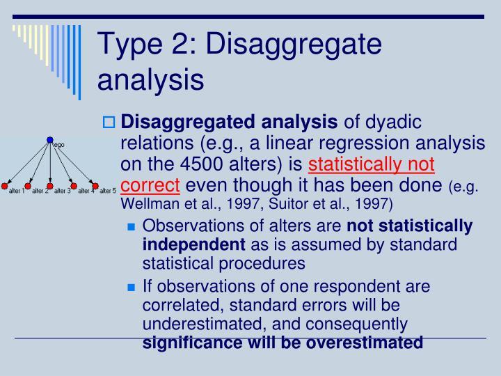 Type 2: Disaggregate analysis