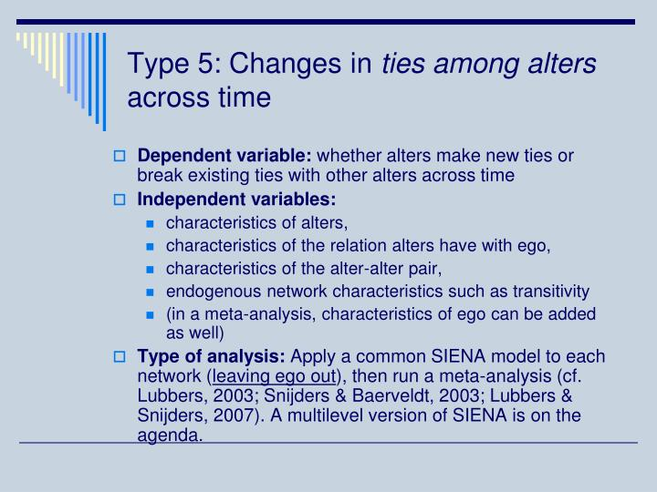 Type 5: Changes in