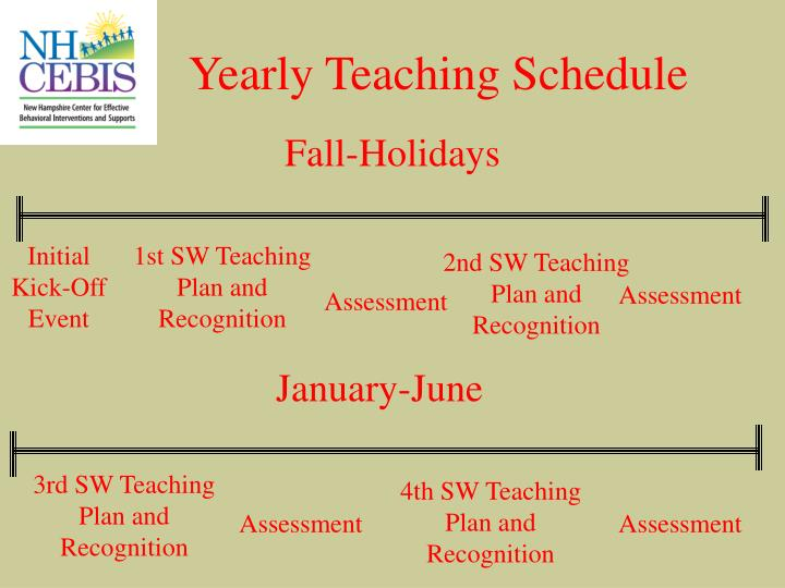 Yearly Teaching Schedule