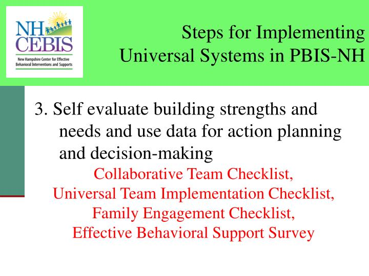 Steps for Implementing