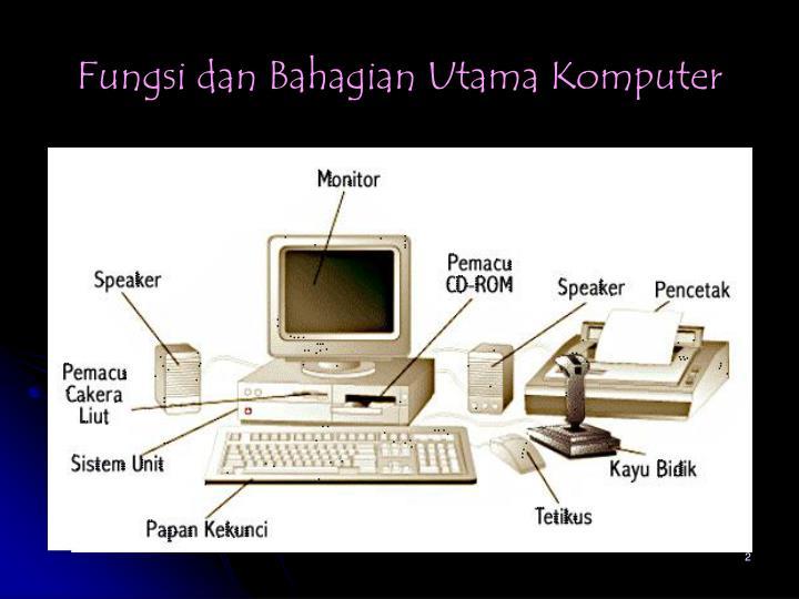 Fungsi dan bahagian utama komputer