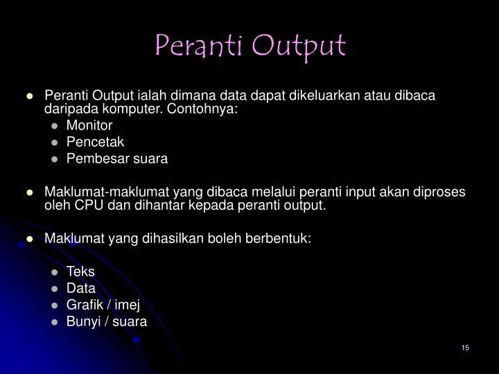 Peranti Output
