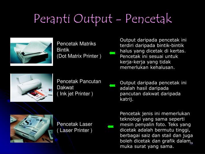 Peranti Output - Pencetak