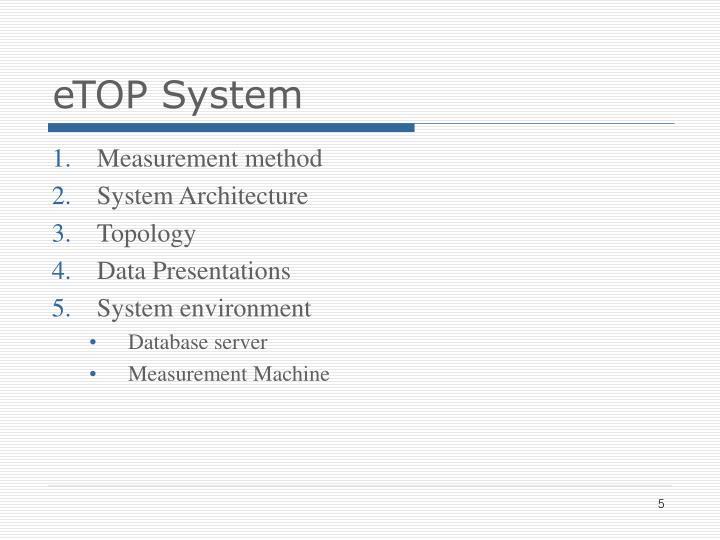 eTOP System