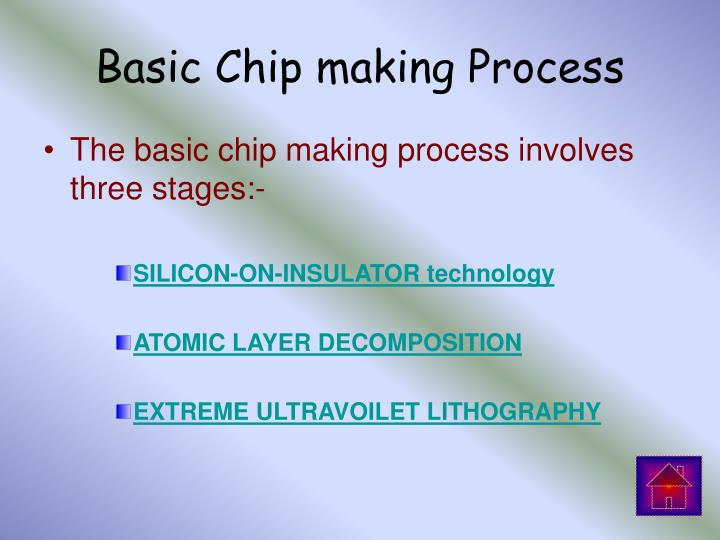 Basic Chip making Process