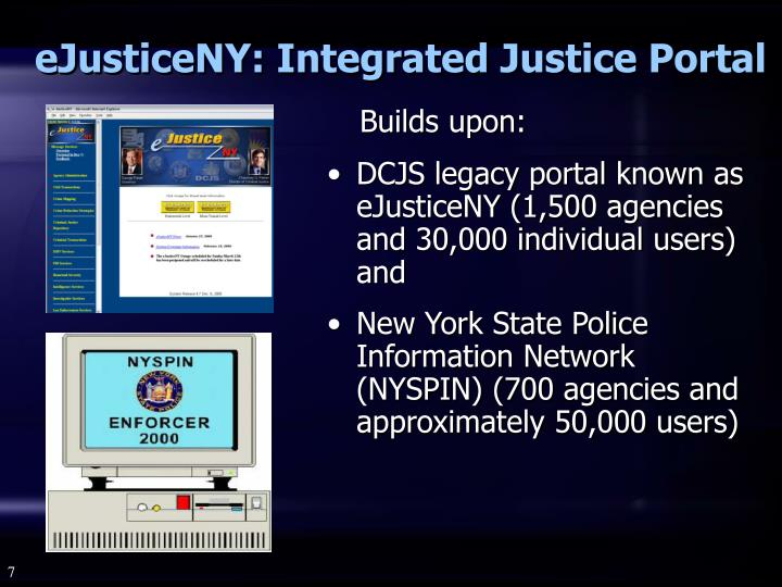 eJusticeNY: Integrated Justice Portal