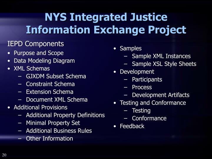 NYS Integrated Justice Information Exchange Project