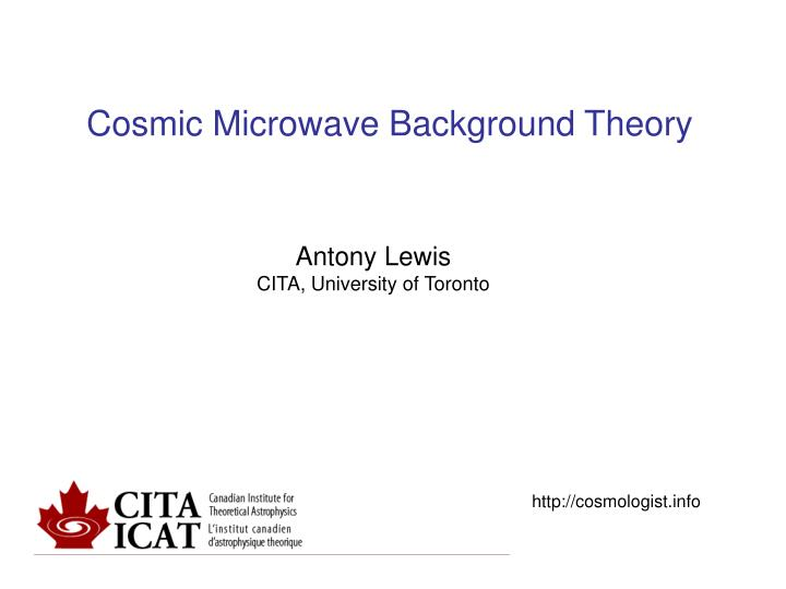 cosmic microwave background theory n.