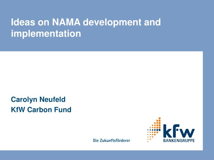 ideas on nama development and implementation n.