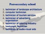 post secondary school