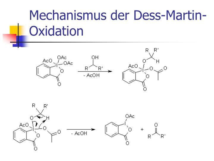 Mechanismus der Dess-Martin-Oxidation