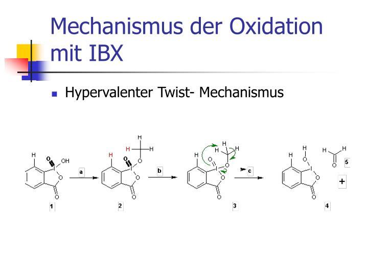 Mechanismus der oxidation mit ibx