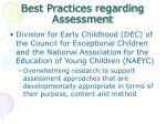 best practices regarding assessment