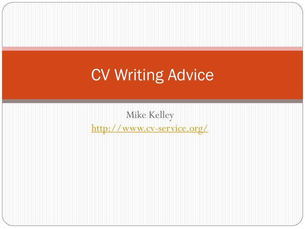 cv writing advice l.