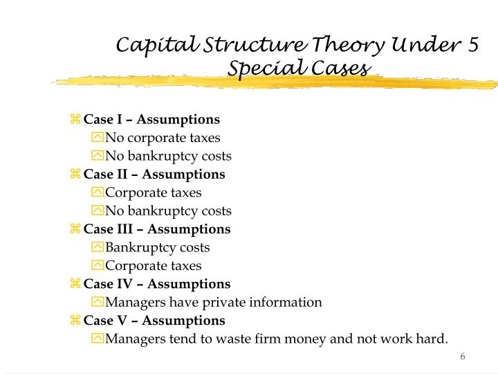google case capital structure Apple's a special case, with a mind-boggling $60bn of cash and  having an  optimal capital structure driving your return on equity is a.