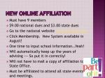 new online affiliation