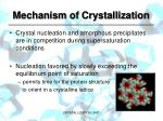 mechanism of crystallization