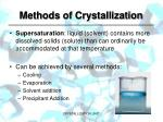 methods of crystallization