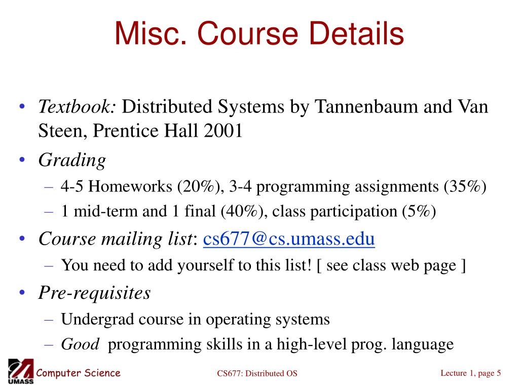 PPT - Distributed Operating Systems Spring 2005 PowerPoint