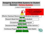 designing school wide systems for student success tertiary systems