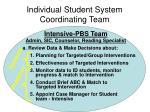 individual student system coordinating team