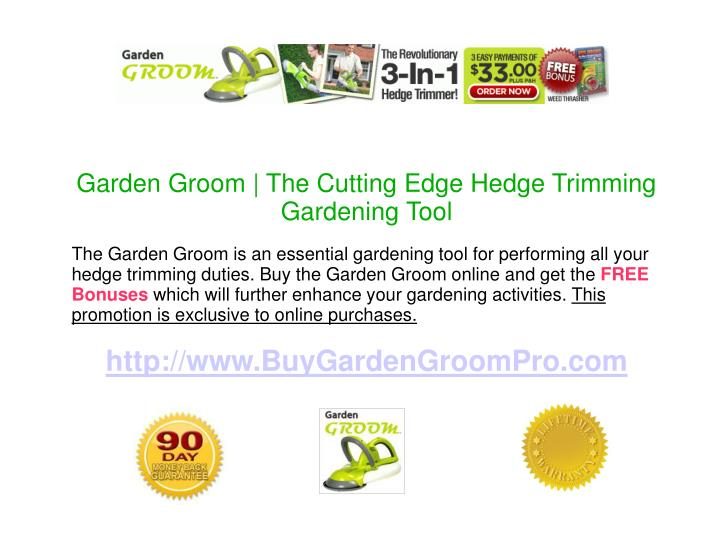 Garden Groom | The Cutting Edge Hedge Trimming Gardening Tool