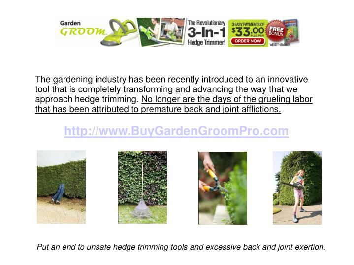 The gardening industry has been recently introduced to an innovative tool that is completely transfo...