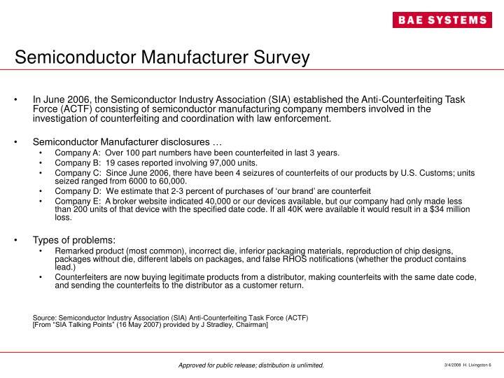 Semiconductor Manufacturer Survey