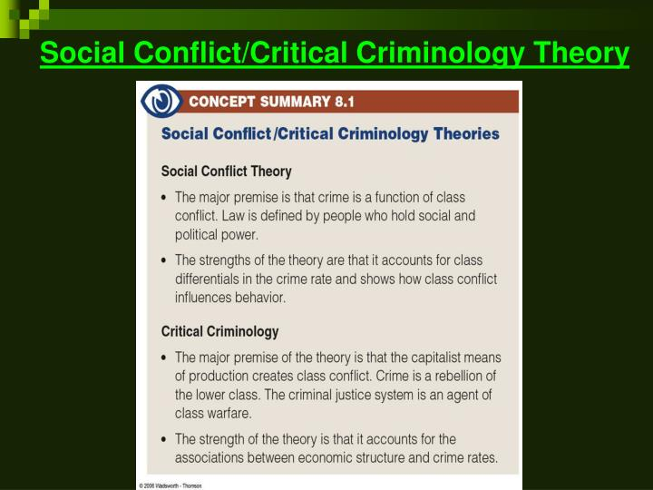 social conflict theory Essay the social conflict paradigm is a theory based on society being a complex system characterized by inequality and conflict that generate social change personal.