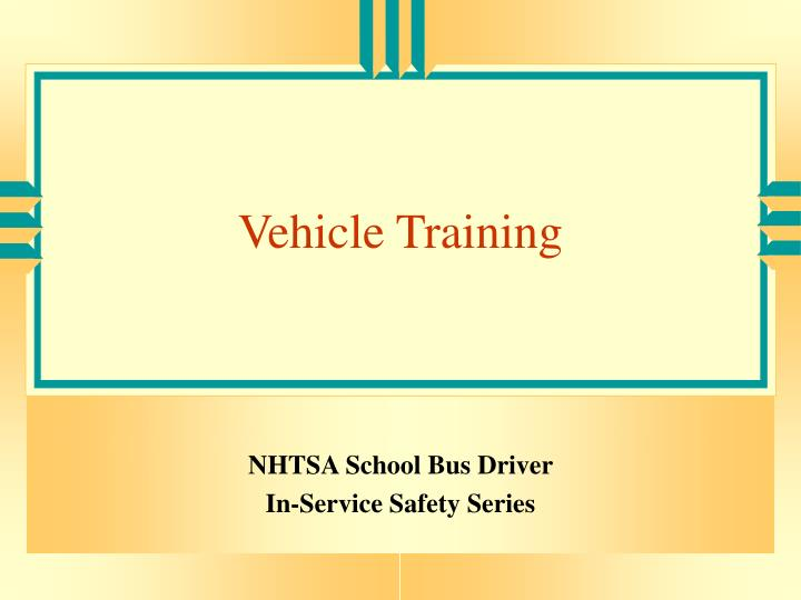 vehicle training n.