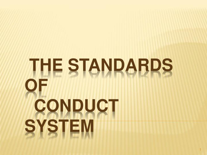 the standards of conduct system n.