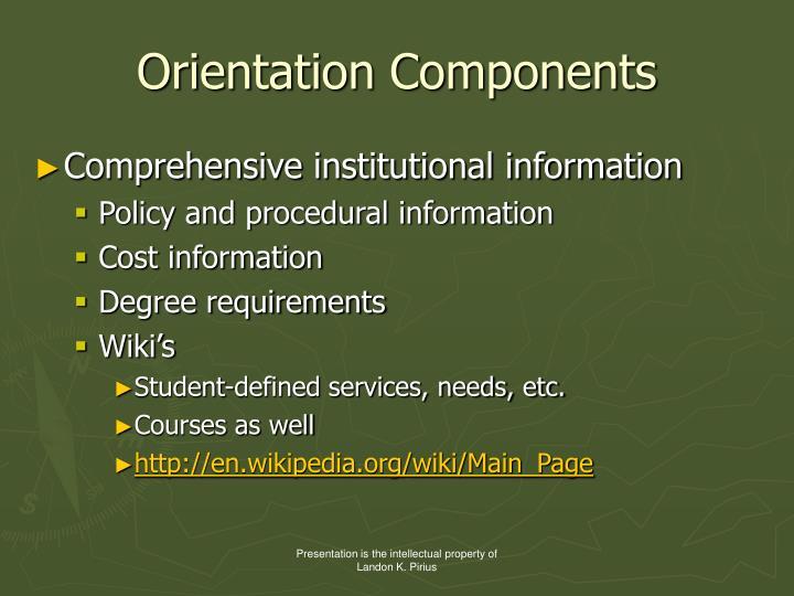 Orientation Components
