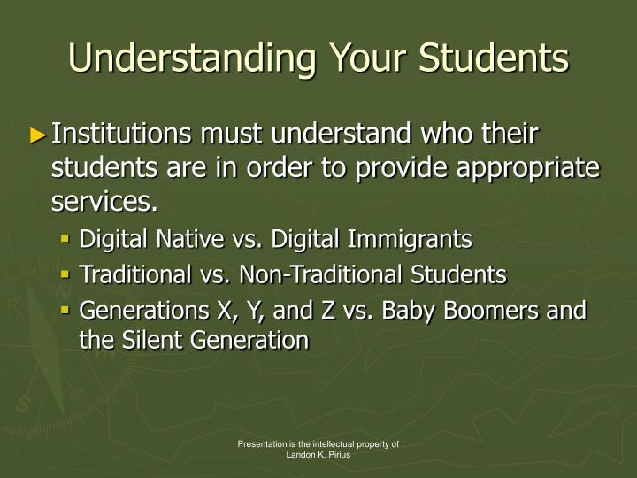 Understanding Your Students