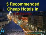5 recommended cheap hotels in barcelona spain