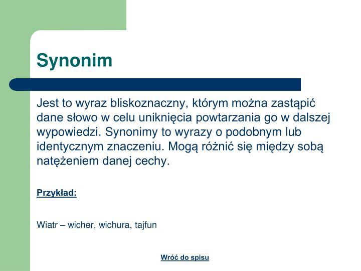 Synonim