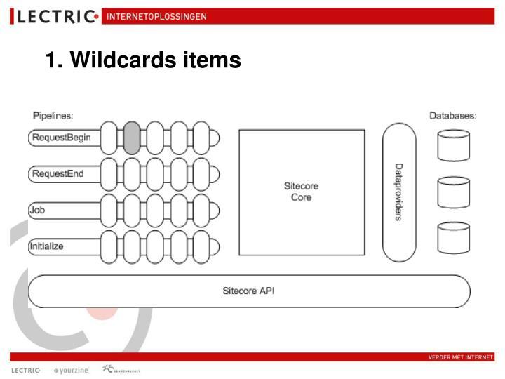 1. Wildcards items