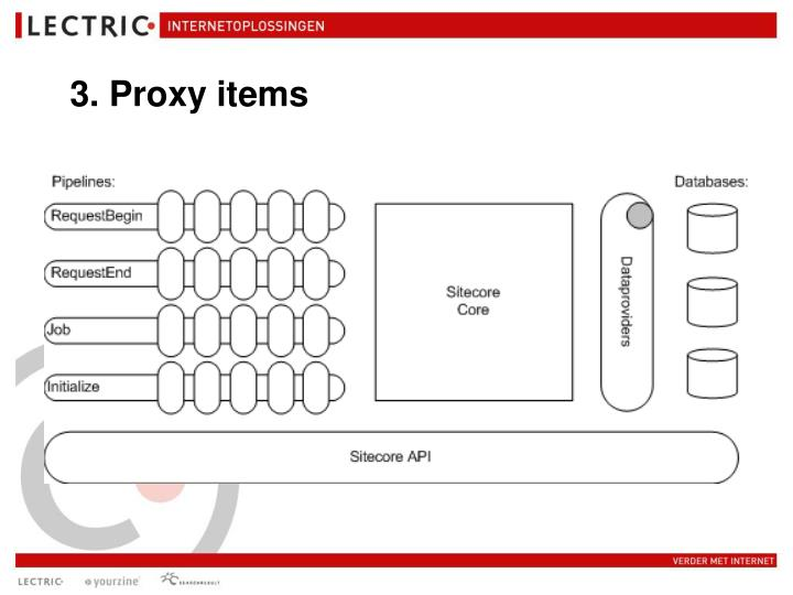 3. Proxy items