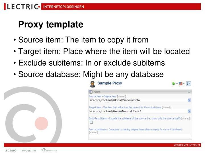 Proxy template