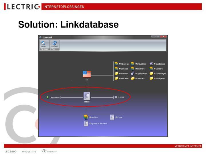 Solution: Linkdatabase