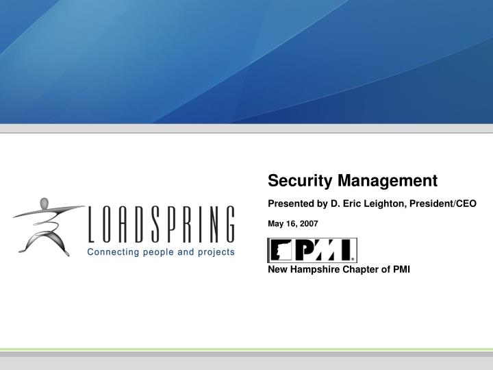 security management n.