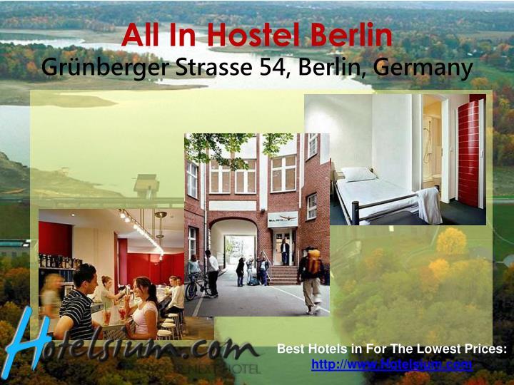 All in hostel berlin gr nberger strasse 54 berlin germany
