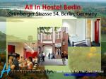 all in hostel berlin gr nberger strasse 54 berlin germany