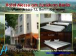 hotel messe am funkturm berlin wundstrasse 72 berlin germany