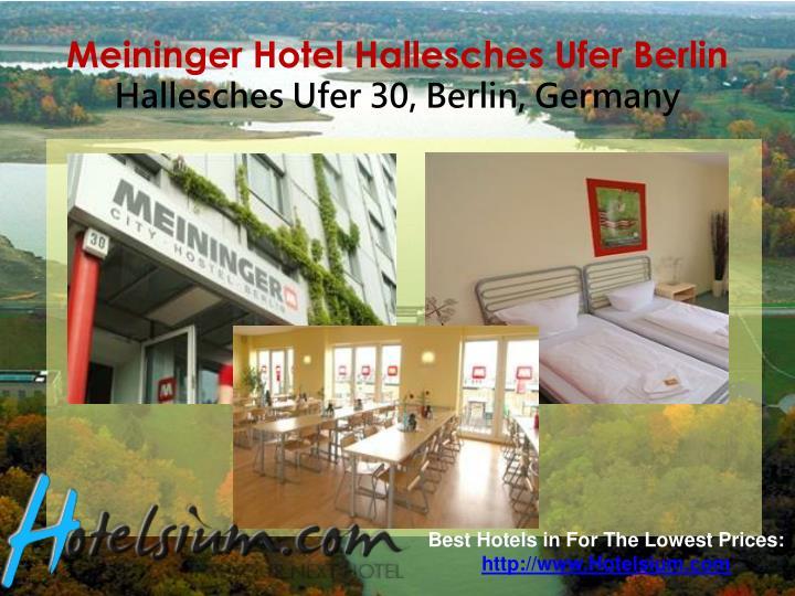 Meininger hotel hallesches ufer berlin hallesches ufer 30 berlin germany