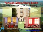 pension marienburg berlin zachertstra e 11 berlin germany
