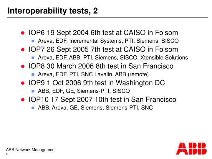 Interoperability tests, 2